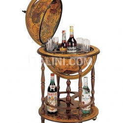 """Regolo"" bar globe with wooden meridian and bottle carrier - №163"