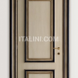 PIETRALTA 1324/QQ Ivory and black painted door Classic Wood Interior Doors - №19
