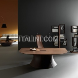 Ola Walnut desktop- leather base - №26