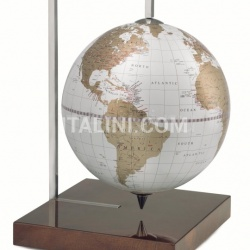 "Zofolli ""Quadra"" desk globe on burl base - White/Gold - №93"
