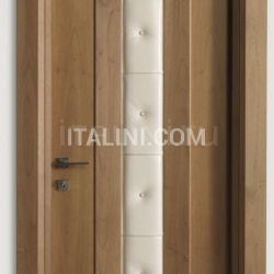 MONDRIAN 913/QQ/07 Natural Italian walnut leather inserts 07 Modern Interior Doors - №213