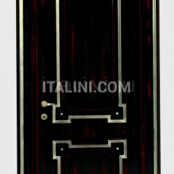 BOLSHOI 2024/QQ Red silver Decape black lacquer finish Classic Wood Interior Doors - №49