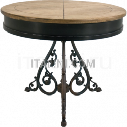 Ocean Contract FIRENZE 2 BICOLOR TOP TABLE - CLASSIC 3 LEGS ANTIQUE - №37