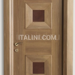 MONDRIAN 914/QQ/08 Italian walnut leather inserts 08 Modern Interior Doors - №216