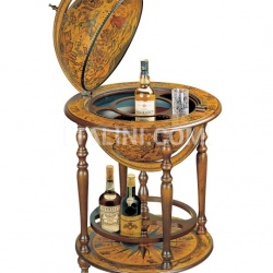 """Orione"" bar globe with wooden meridian and bottle carrier - №164"