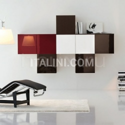 Cubical hanging elements in different colours. - №155