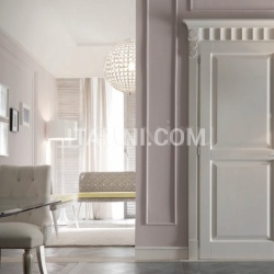 KORINTHOS 1398/QQ 2535 glossy white 100 gloss lacquered casing with cyma korinto Modern Interior Doors - №221