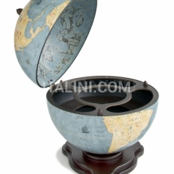 "Zofolli ""Galileo"" desk globe drinks cabinet - Blue Dust - №173"