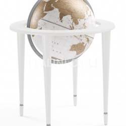 "Zofolli ""Amerigo Vespucci"" contemporary style floorstanding globe - All White - №133"