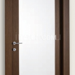 Mart Stam 1903/QQ/V Wenge brush stained oak internal frosted glass. Modern Interior Doors - №185