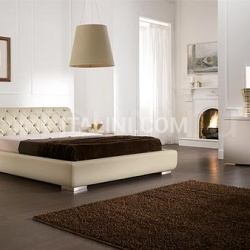 Opera line, light brown lacquer _ Letto Vision quilted leather, butter-colored - №45