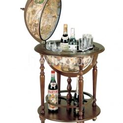 """Incanto"" bar globe on four casters with lower shelf - №24"