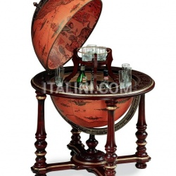 "Charming large bar globe with golden decorations ""Afrodite"" - №67"