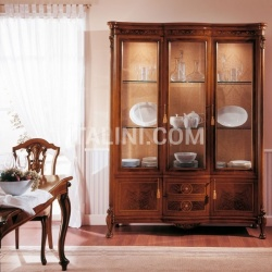 Marzorati Classic display cabinet Library  - ROYAL NOCE / Showcase with 3 doors - №77