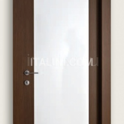 Mart Stam 1903/QQ/PL Wenge brush stained oak glossy white lacquered internal panel. Modern Interior Doors - №183