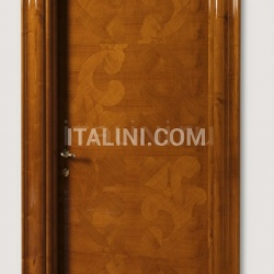 GORKY PARK 901/QQ  Inlaid sliced veneer in coated cherry, Cover moulding Klee Modern Interior Doors - №229