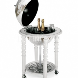 "Zofolli ""Elegance"" bar globe on casters - All White - №13"