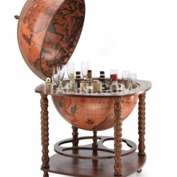 "Large bar globe with spiral legs and wheels ""Caronte"" - №64"
