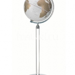 """Era"" floorstanding globe in essential and modern style - White/Gold - №99"
