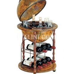"Zofolli ""Pegaso-Cellar"" small floor bar globe with metal wine rack - №162"