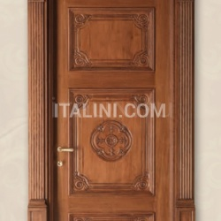 LOUVRE 8015/QQ/INT casing with cyma Louvre oak wood glazed Classic Wood Interior Doors - №67