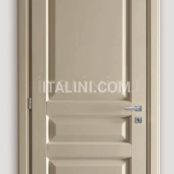KORINTHOS 1396/QQ 1850 glossy dove gray 100 gloss lacquered casing with cyma korintos Modern Interior Doors - №219