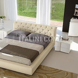 OPERA'  line, white ash-wood _ Letto VISION quilted leather, butter-colored - №26