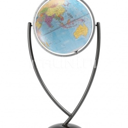 "Zofolli ""Colombo 50"" contemporary design floorstanding globe - Light Blue Political - №12"