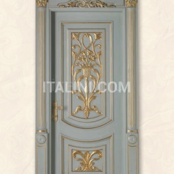 LUIGI XVI 4014/QQ/INT frame Luigi, casing with cyma LUIGI XVI type A, lacquered shaded blue with gold topcoat Classic Wood Interior Doors - №34