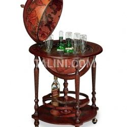 "Bar globe with bottle storage on casters ""Minosse"" - №46"