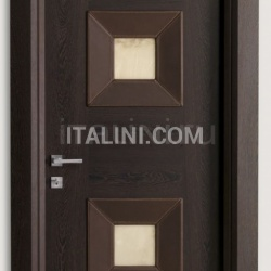 MONDRIAN CUOIO 914/QQ/10 Wenge and leather alabaster inserts 10 Modern Interior Doors - №214