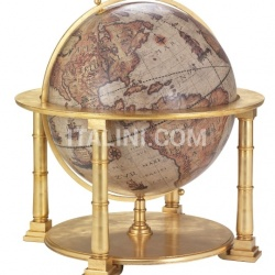 "Exclusive wooden globe ""Colosso"" - Gold - №69"