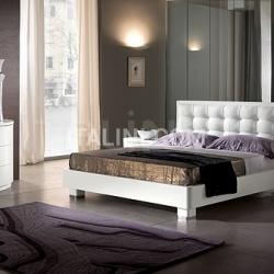 Saber LUNA line white ash-wood _ DAMA bed _ Olimpo white mirror - №32