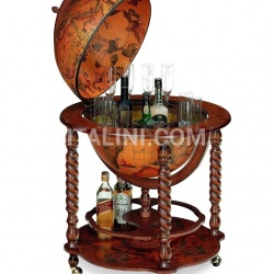 "Spiral leg bar globe with large drinks cabinet ""Bacco"" - №47"