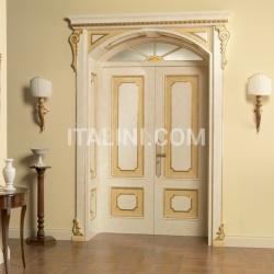 RE SOLE 3014/QQ  with TQ Re Sole New fan semicircular radial doorway with cathedral glass and panelling on the frame Classic Wood Interior Doors - №26