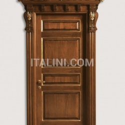 BASTIGLIA 1135/Q antiqued tulipwood with gold Classic Wood Interior Doors - №29