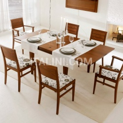 Square extendable folding table - №228