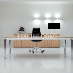 Han executive and office furniture in Zebrano Chiaro wood. - №33