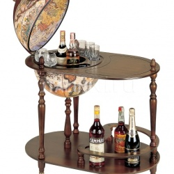 """Vivalto"" trolley bar globe with serving tray - №167"