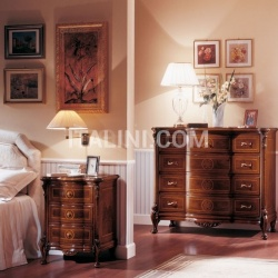 Marzorati Luxury classic nightstands Hotel  - ROYAL NOCE / Bedside table - №73