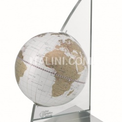 "Zofolli ""Vela"" desk globe on plexiglass frame - White/Gold - №84"