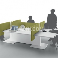 Anyware table with 6 workstations made with Turnable and Movable screen. - №55