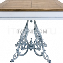 Ocean Contract ORVIETO 1 BICOLOR TOP TABLE - CLASSIC 4 LEGS ANTIQUE - №38