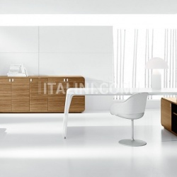 Ideal Form Team Sestante White Leather Desk - №14