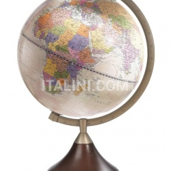 """Coronelli"" educational desk globe with wooden base - Pink Political - №120"