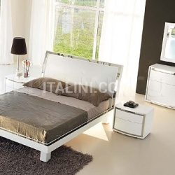 KUBE line - FUSION bed white ash/steel - №19