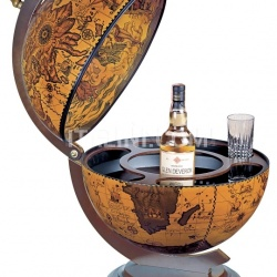 "Zofolli ""Sfera 42"" desk bar globe - Ebony - №155"