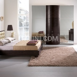 Saber LUNA  wardrobe, coffe colored-ash, tinted mirrors _ OPERA' line _ DAMA bed, coffe colored-ash - №43