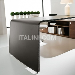 Ideal Form Team Sestante White Leather Desk - №13