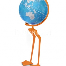 "Zofolli ""Papero"" floorstanding cartoon globe on aluminum base flocked with velvet - №134"